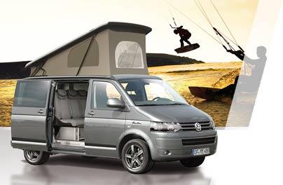 Mit Aufstelldach Schlafdach von einem City-van zum Camping-van